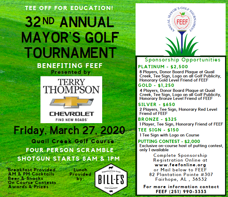 FEEF's 32nd Annual Mayor's Golf Tournament