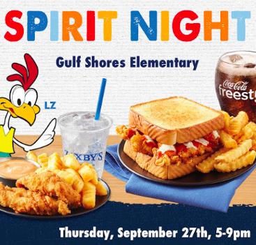 Zaxby's Spirit Night 1/31/19