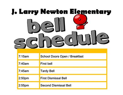 UPDATED BELL SCHEDULE