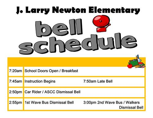 J. Larry Newton Bell Schedule