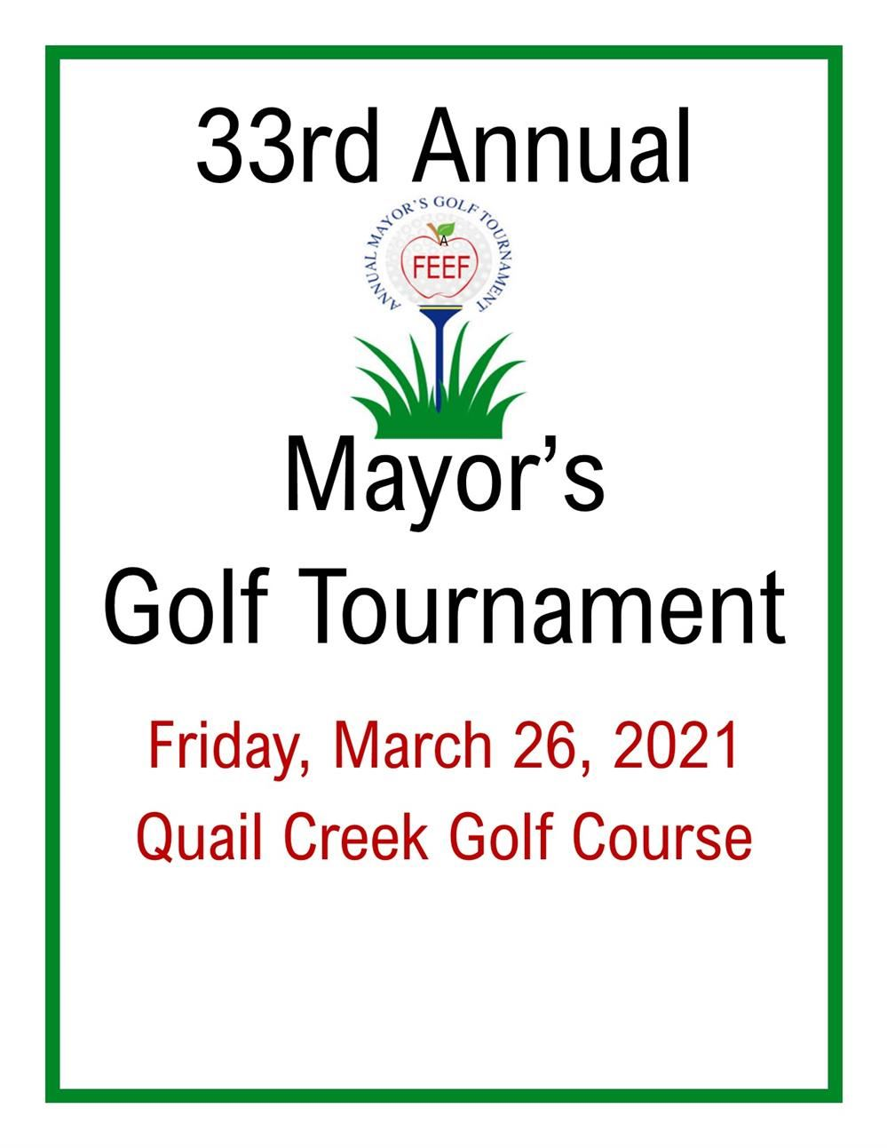 FEEF Mayor's Golf Tournament