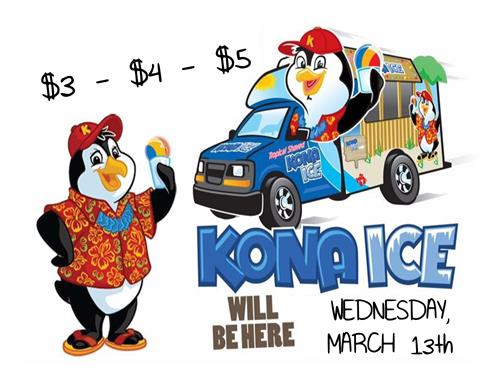 March Kona Ice