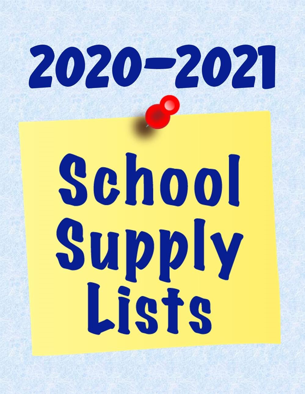 2020-2021 NEWTON SCHOOL SUPPLY LISTS