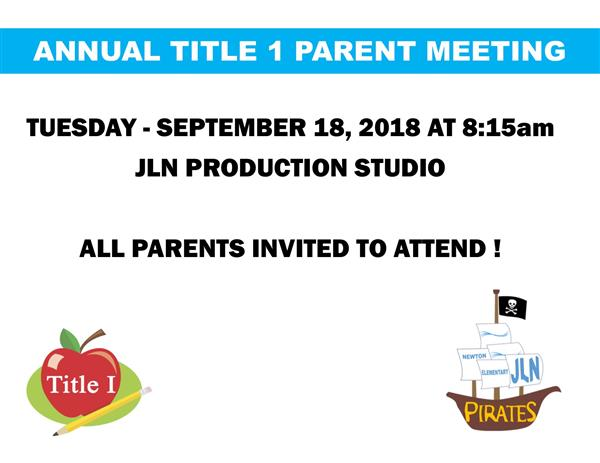 JL Newton Holds Title 1 Parent Meeting.