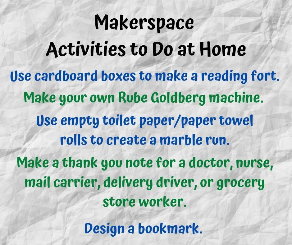 makerspace activities to do at home
