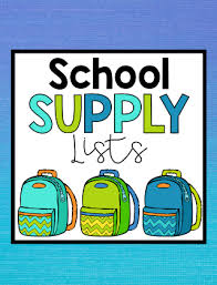 Back To School: Supply Lists for 2020-2021