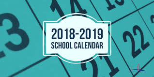 2018-2019 School District Calendar