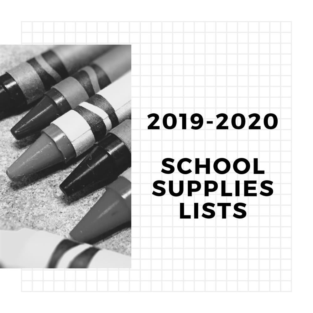 2019 - 2020 School Supply List