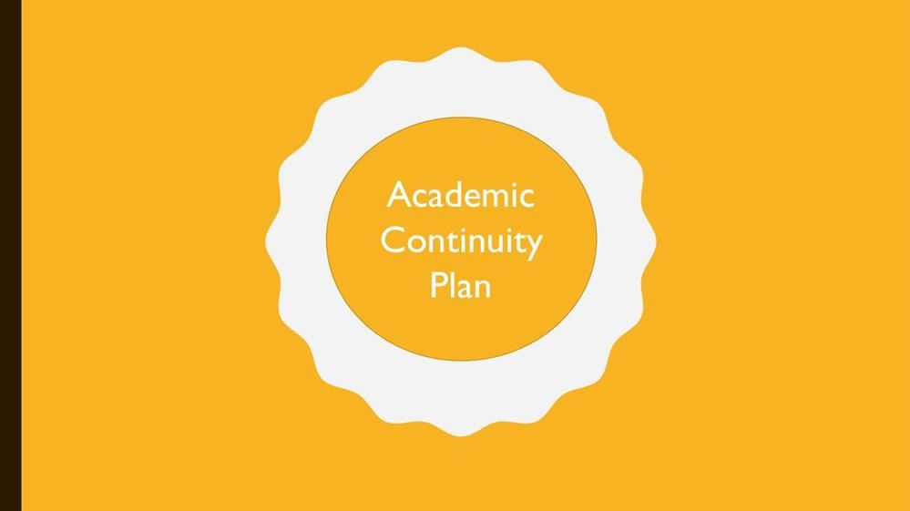 Academic Continuity Plan