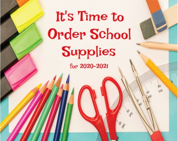 Supply Packs, shirts, Yearbooks, etc. 2020-2021 Deadline of June 5th for Supply Packs