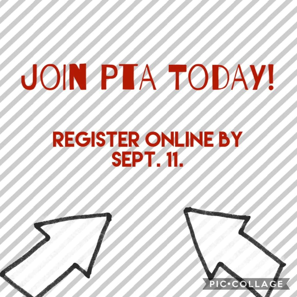 Join PTA by September 11th!