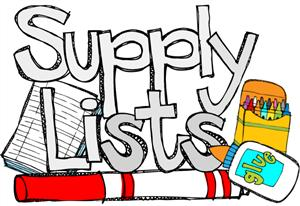 Supply Lists 2019 - 2020