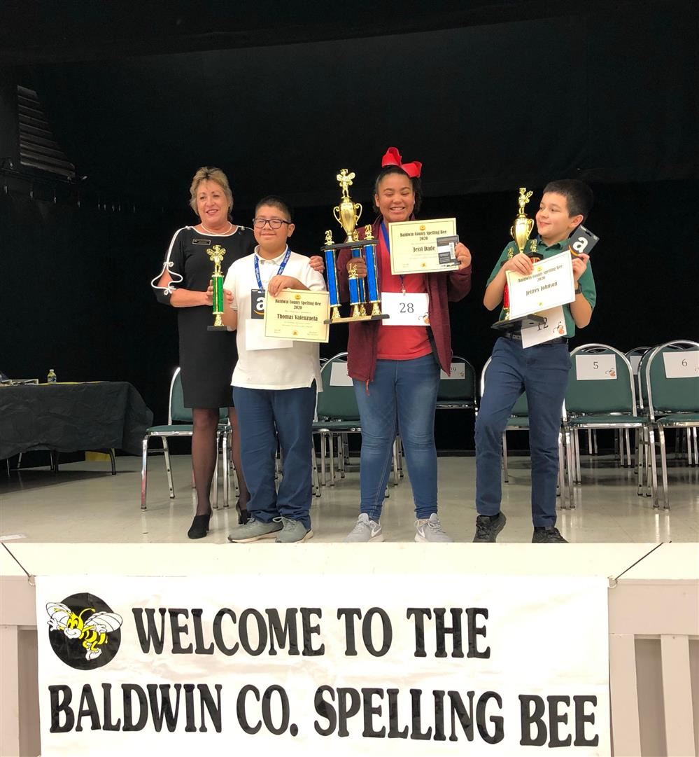Thomas Valenzuela places 3rd in Baldwin County Spelling Bee