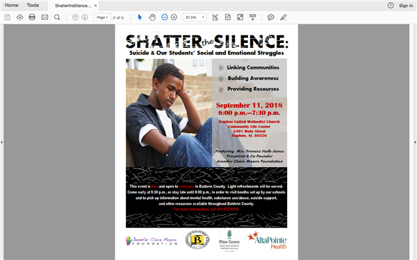 """Shatter the Silence""-Suicide Awareness & Prevention Expo"