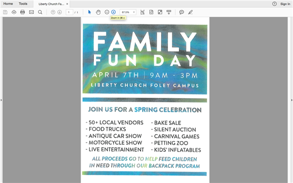 Spring Celebration Sponsored by Liberty Church