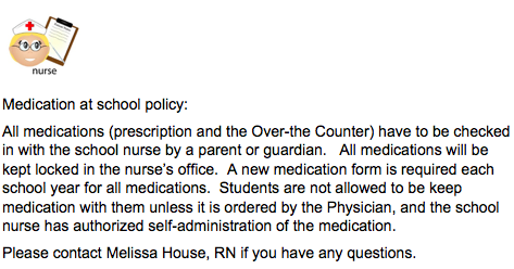 Medication Policy