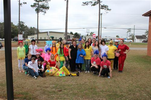 Library Club Group Photo - Read Across America