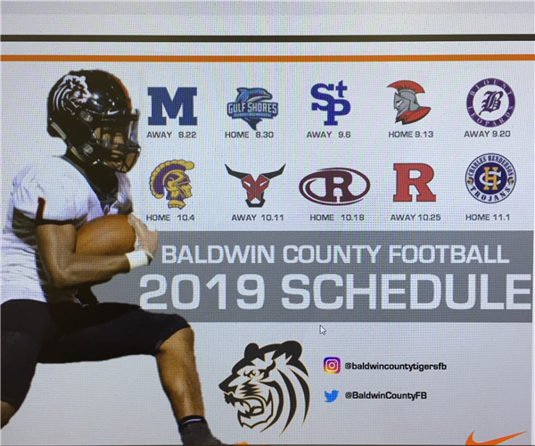 2019 Baldwin County High School football schedule