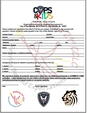 Cops & Kids Summer Camp