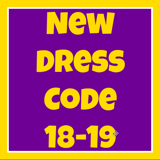 New Dress Code Information