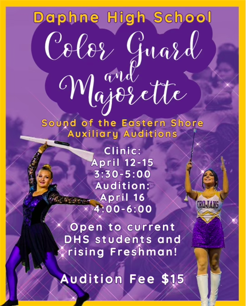 Color Guard and Majorette