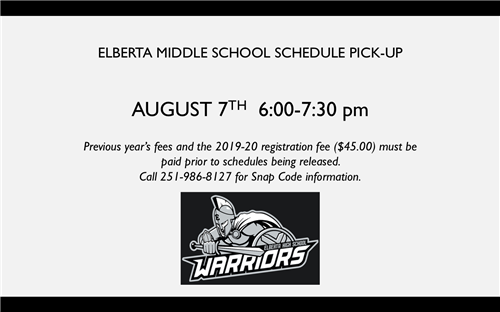 EMS SCHEDULE PICK-UP