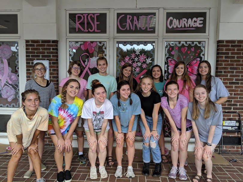 FHS Art Students spread Breast Cancer Awareness
