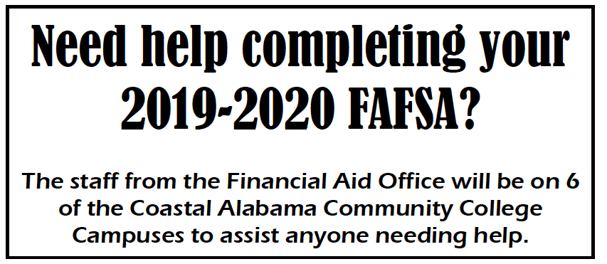 Parents and Students:  CLICK HERE to see details about the FAFSA help sessions