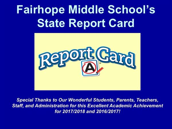 "FMS Scores ""A"" on the State Report Card for Second Year in a Row!"