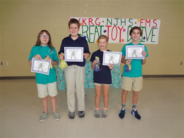 Kudos to the 7th Grade Students of the Month for September and October!
