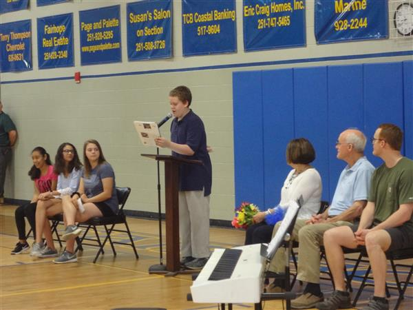 FMS Honors Mrs. Brett with a Special Assembly