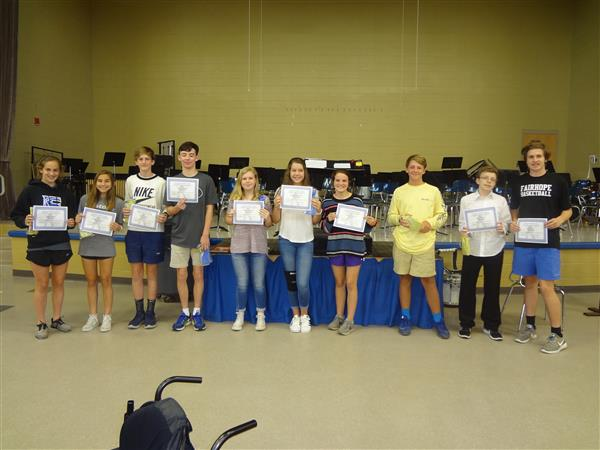 Congratulations to the 8th Grade Students of the Month for March, April, and May 2018!