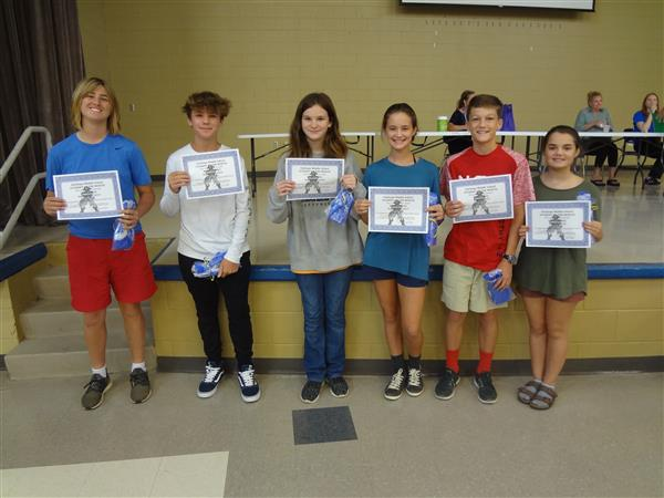 Kudos to the 7th Grade Students of the Month for August and September 2018!