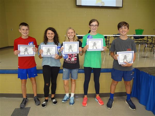 Congratulations to the 8th Grade Students of the Month for August and September 2018!