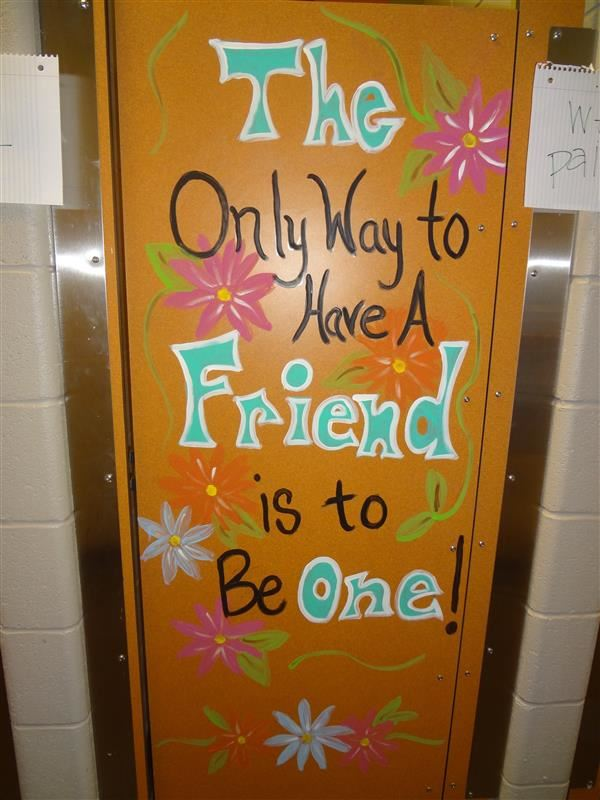 Junior Auxiliary Decorates Girls' Restrooms with Positive Messages!