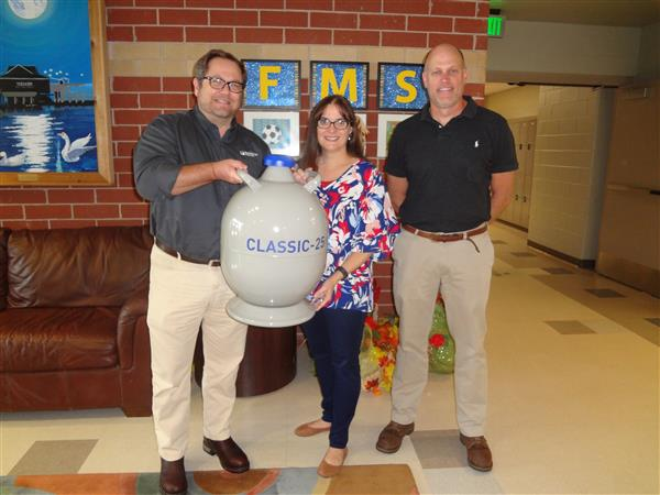 Thank You to Worthington Industries for Donating a Liquid Nitrogen Container to Mrs. Boyer's Science Classes!