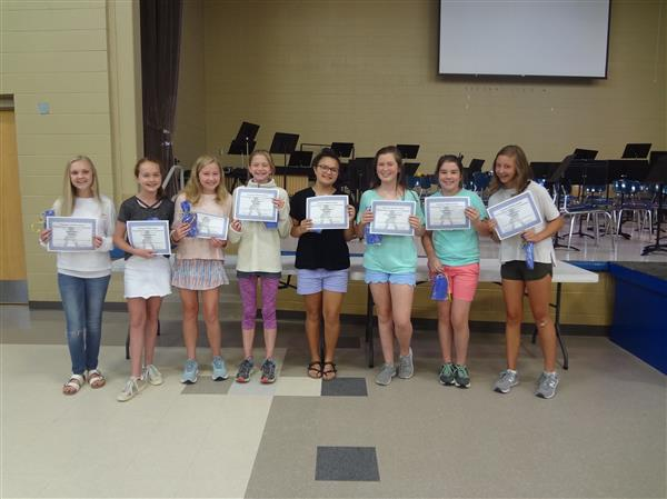 7th Grade Girls- Outstanding Students