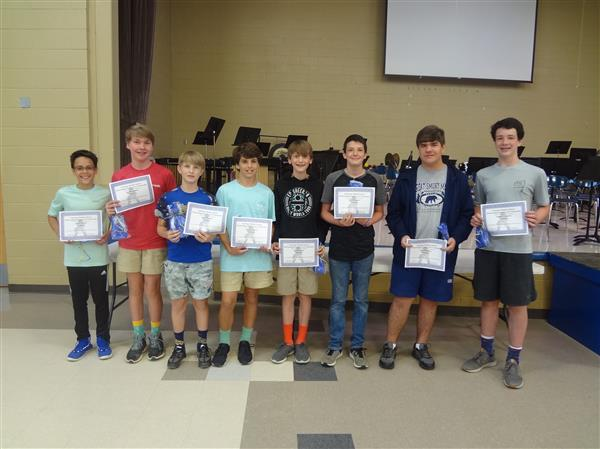 7th Grade Boys- Outstanding Students