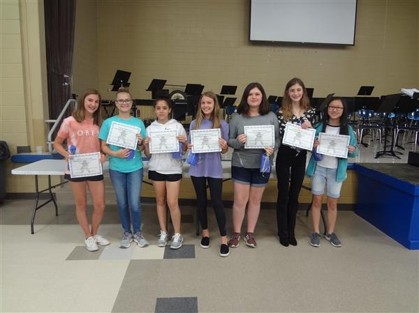8th Grade Girls- Outstanding Students