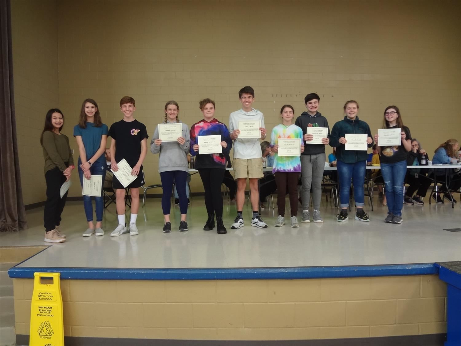 Congratulations to the Top 10 Highest Score Students and Top 10 Most Gains Students on the 7th Grade Winter Reading and Math Scantron!