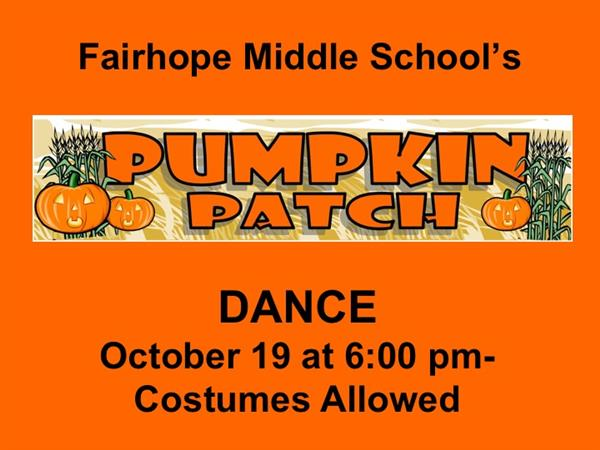 October 19th at 6:00 pm in Cafetorium- Costumes Allowed