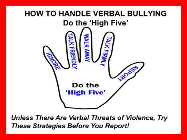 Do the High Five to Handle Verbal Bullying