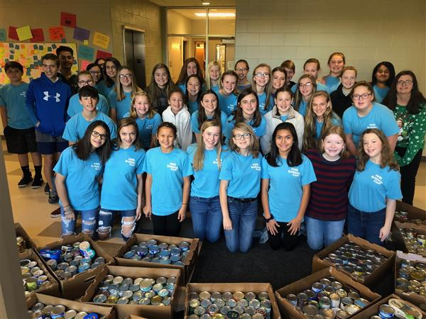 Builders Club Sponsored a Food Drive for Ecumenical Ministries and Collected 1,034 Cans!