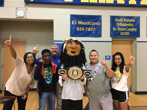 FMS Receives Attendance Belt for January!