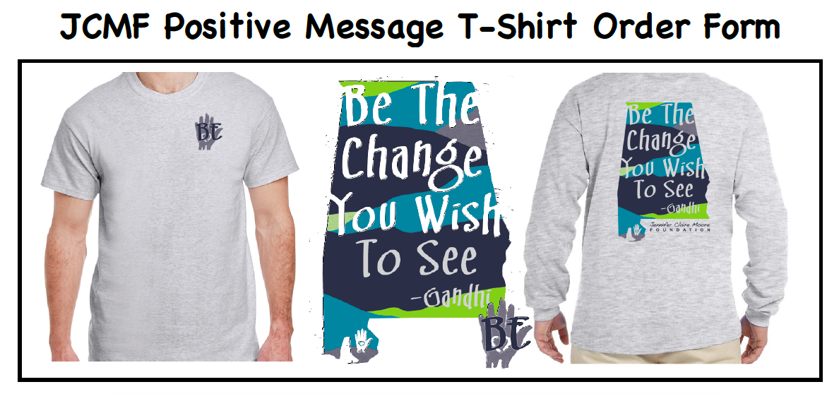JCMF Positive Message T-Shirts for Sale