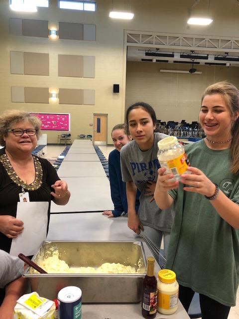 Mrs. Bartl's Gifted Classes Make Coleslaw with FMS Homegrown Cabbages!