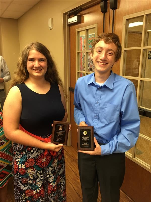 Daphne Optimist Club Recognizes FMS Scholars' Bowl Members, Sophia Sullins and Alex Etheridge