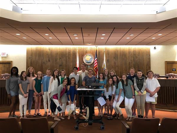 SGA Visits City Hall