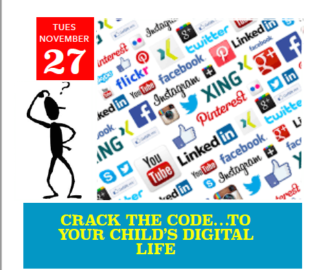 Crack the Code...To Your Child's Digital Life In Spanish Fort Tuesday, November 27 at 6:00 P.M.