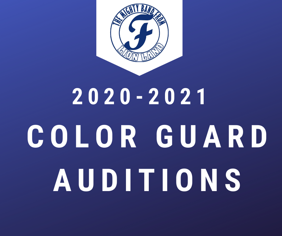 High School Color Guard Tryouts for rising 9th Graders